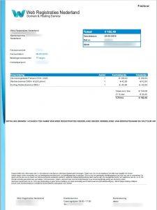 Voorbeeld Spookfactuur Web Registraties Nederland